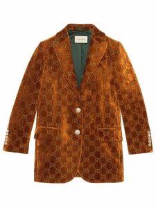 Gucci GG velvet jacket - Brown