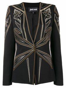 Just Cavalli micro stud-embellished blazer - Black