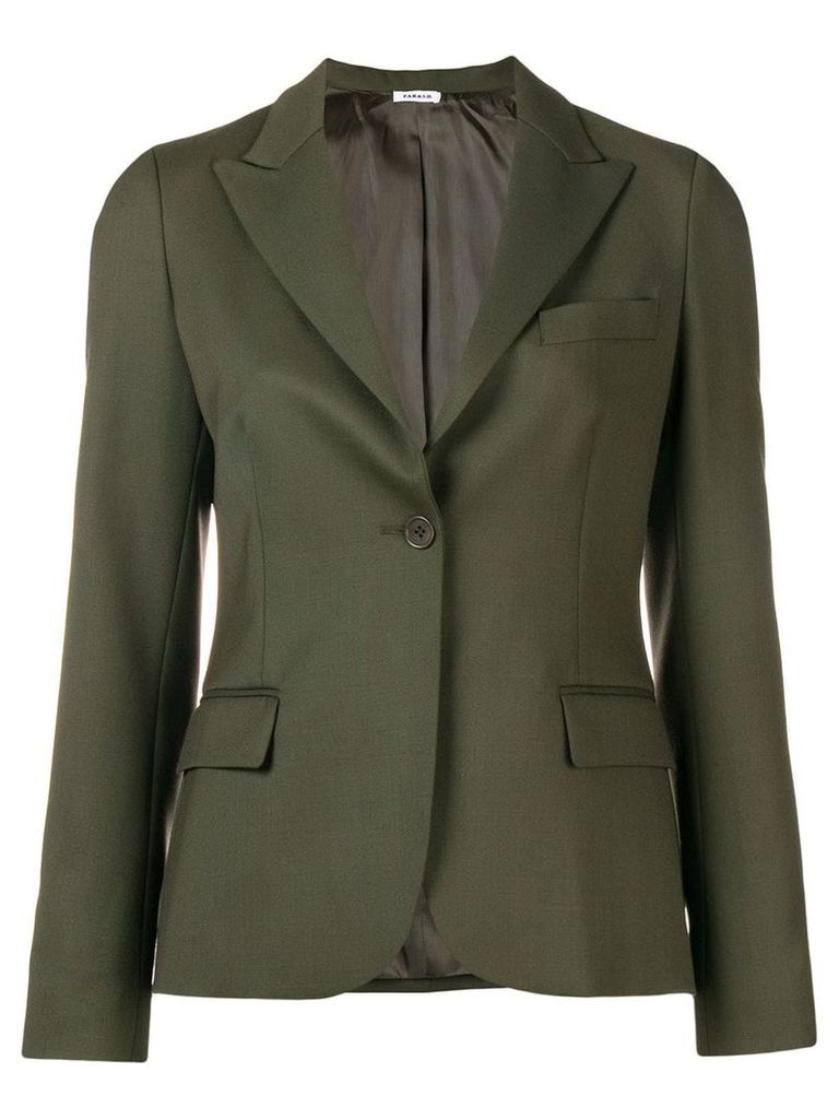 P.A.R.O.S.H. classic single-breasted blazer - Green