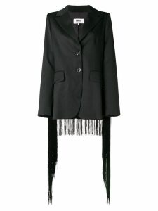 Mm6 Maison Margiela fringed trim blazer - Black