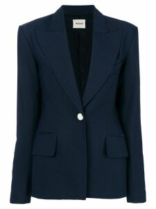 Khaite slim-fit buttoned blazer - Blue