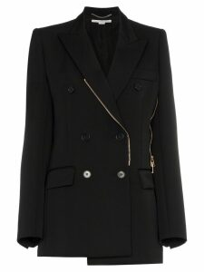 Stella McCartney double breasted zip wool blazer - Black