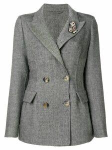 Ermanno Scervino embellished fitted blazer - Black
