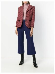 Chloé plaid single-breasted blazer - Red