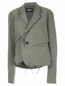 Moohong deconstructed draped blazer - Grey