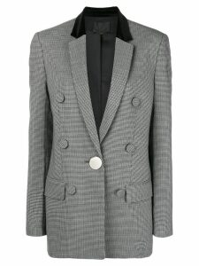 Alexander Wang plaid fitted blazer - Grey