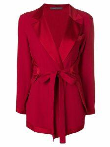 Alberta Ferretti wrap style blazer - Red