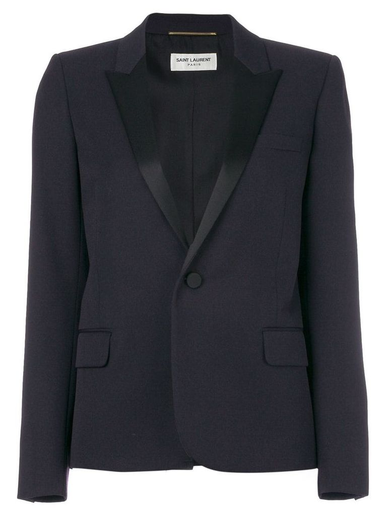 Saint Laurent tailored fitted blazer - Blue