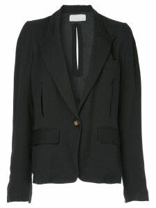 Juan Hernandez Daels Balance split-detail blazer - Black