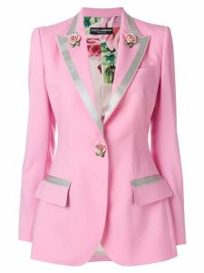 Dolce & Gabbana single-breasted rose blazer - Pink