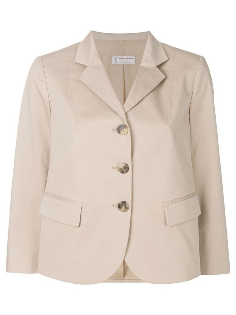 Alberto Biani single breasted blazer - Neutrals