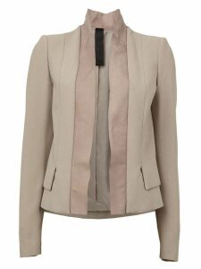 ILARIA NISTRI leather lapel blazer - Neutrals