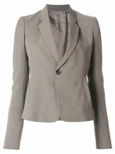 Rick Owens cropped notblazer jacket - Grey