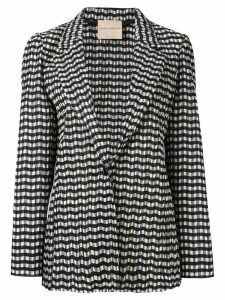 Erika Cavallini zig-zag pattern blazer - Black