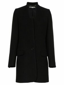 Stella McCartney single breasted wool felt blazer - Black
