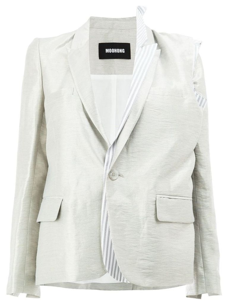 Moohong layered sheen blazer - White