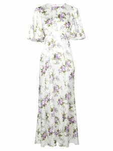 Les Reveries long floral dress - White