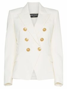 Balmain white double breasted blazer