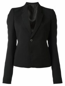Rick Owens cropped structured blazer - Black
