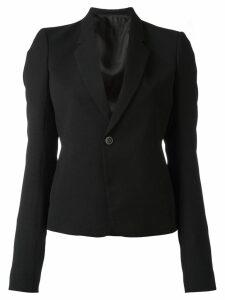 Rick Owens cropped structured blazer - Black