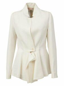 Marni asymmetric blazer - White