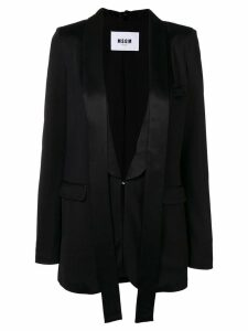 MSGM evening lapel blazer - Black