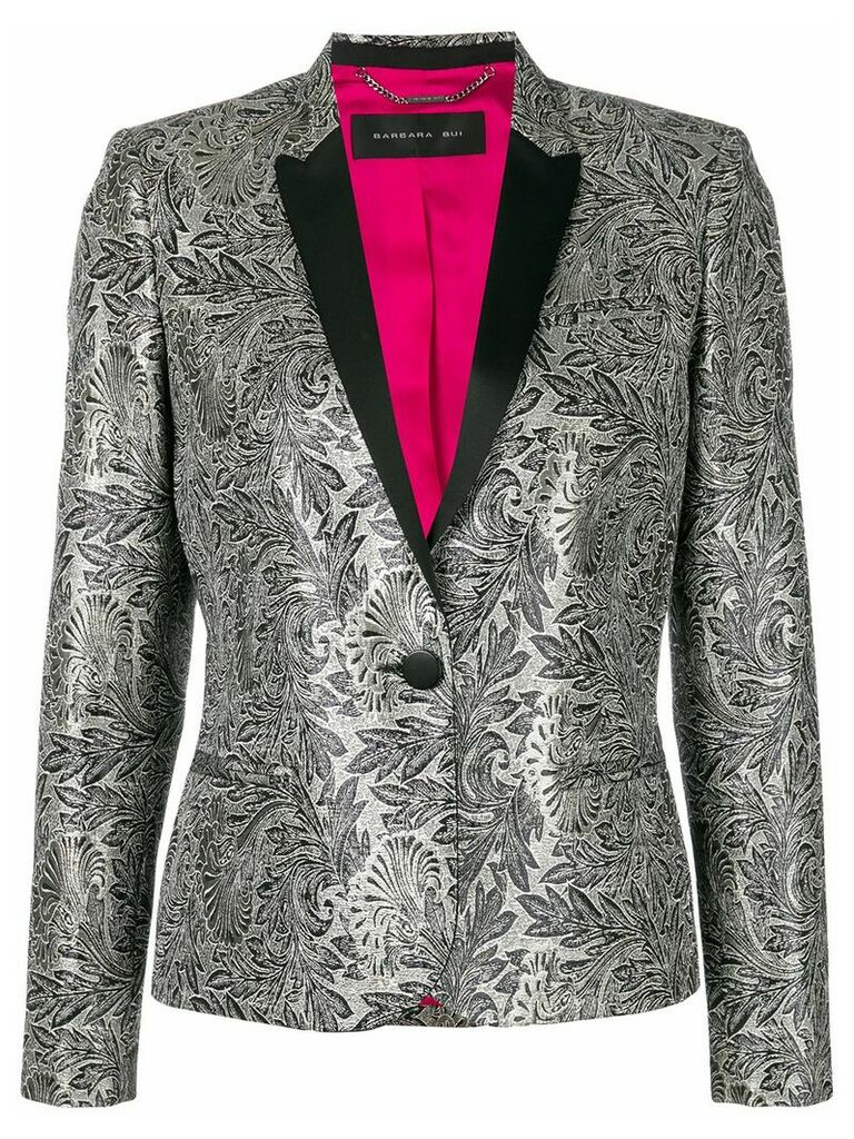 Barbara Bui embroidered fitted blazer - Grey