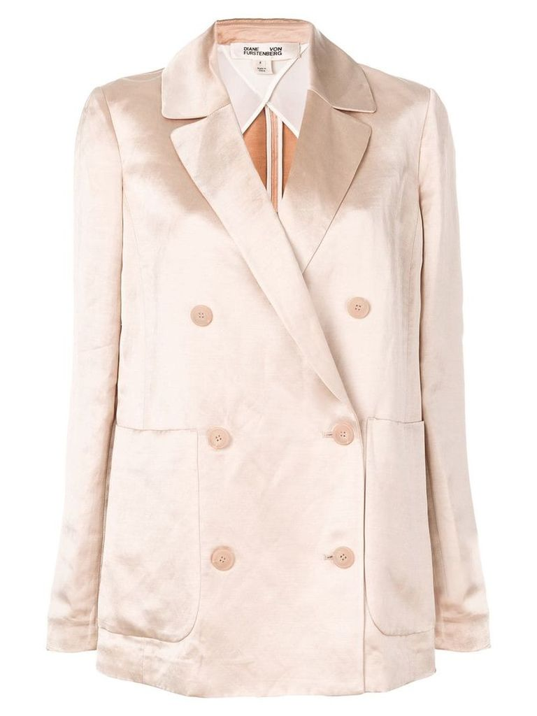 Dvf Diane Von Furstenberg double-breasted fitted blazer - Neutrals