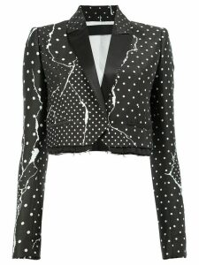 Haider Ackermann polka dot cropped blazer - Black