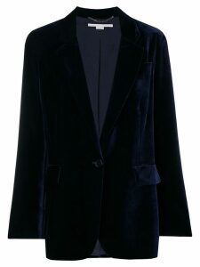 Stella McCartney velvet button blazer - Blue