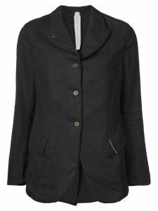 A Diciannoveventitre curved hem buttoned blazer - Blue