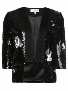 Galvan sequin embellished cropped blazer - Black