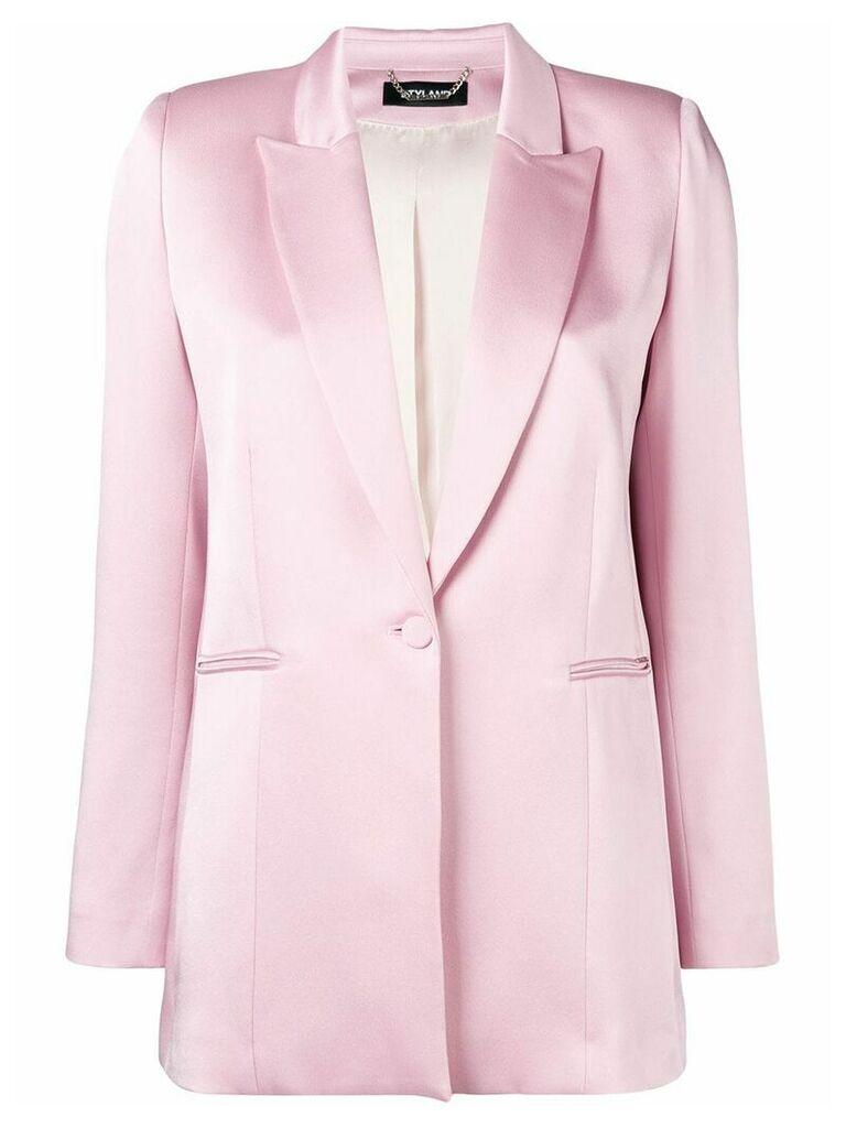 Styland satin blazer - Pink