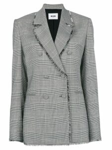 MSGM raw edge notch collar blazer - Black