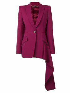 Alexander McQueen asymmetric hem blazer - Pink