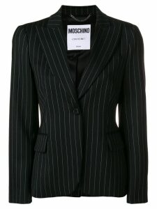 Moschino tailored striped blazer - Black
