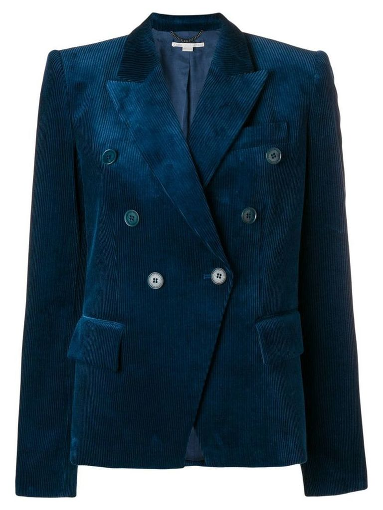 Stella McCartney cord double-breasted blazer - Blue