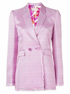 Emilio Pucci plaid double breasted blazer - Pink