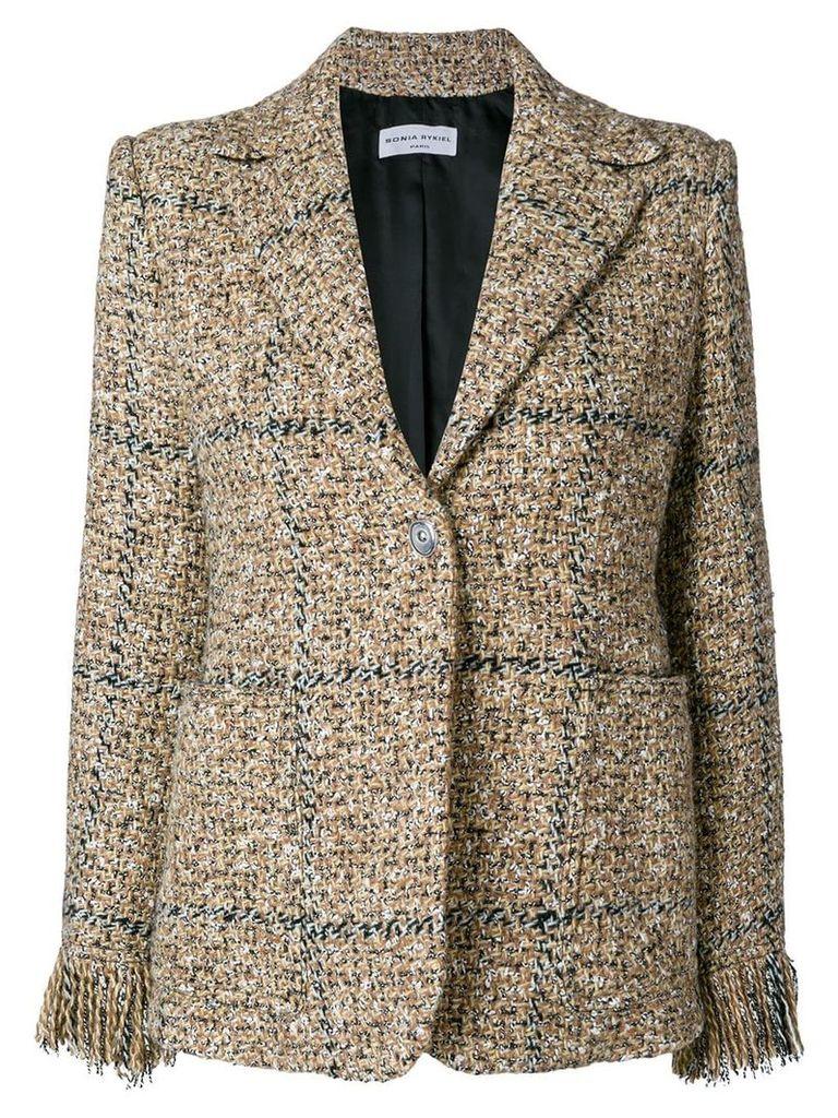 Sonia Rykiel button tweed jacket - Brown