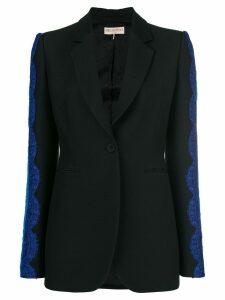 Emilio Pucci lace inserts blazer - Black