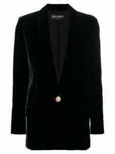 Balmain shawl lapel blazer - Black