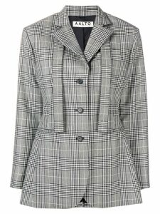 Aalto oversized checked blazer - Grey