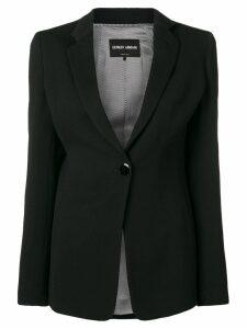 Giorgio Armani classic single-breasted blazer - Black
