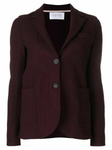 Harris Wharf London curved hem buttoned blazer - Red