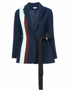 Delpozo striped tie-waist blazer - Blue