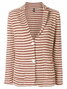Eleventy striped blazer - Brown