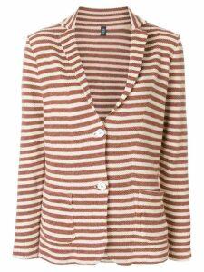 Eleventy striped blazer - Brown