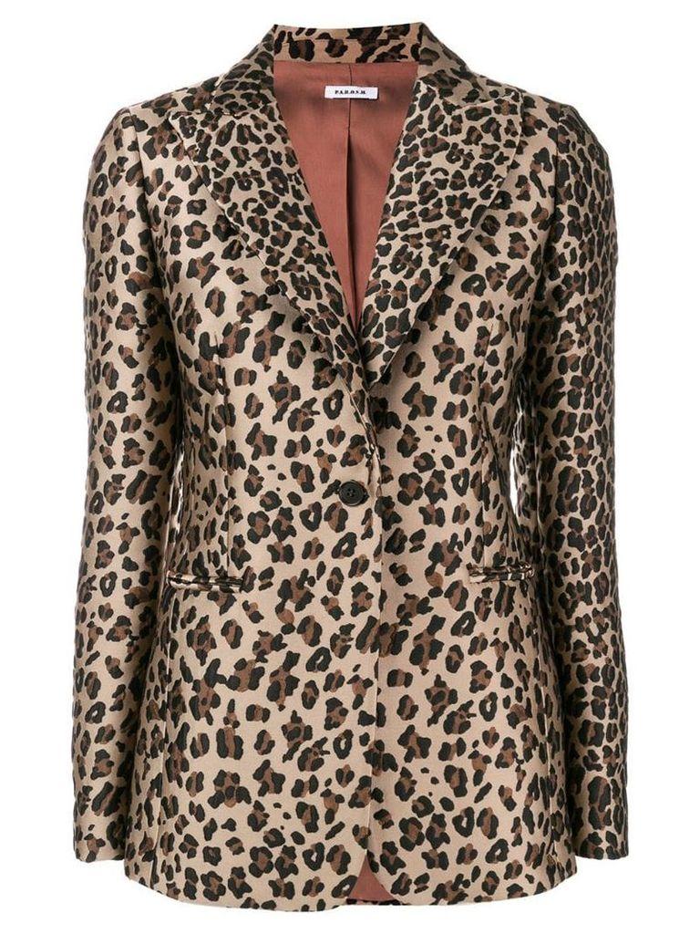 P.A.R.O.S.H. leopard print blazer - Brown