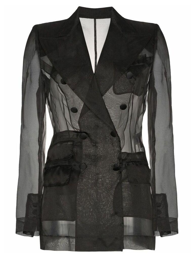 Dolce & Gabbana Sheer organza double breasted jacket - Black