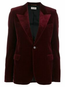 Saint Laurent peaked lapel velvet blazer - Red